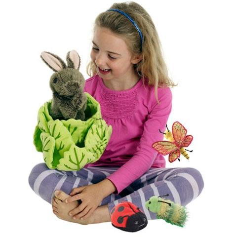 Kanin i salatblad